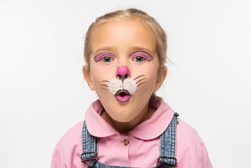 Kanin - Pige malet som en kanin