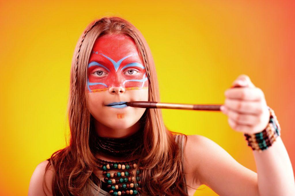 Markedsføring eksempel - Indianer ansigtsmaling